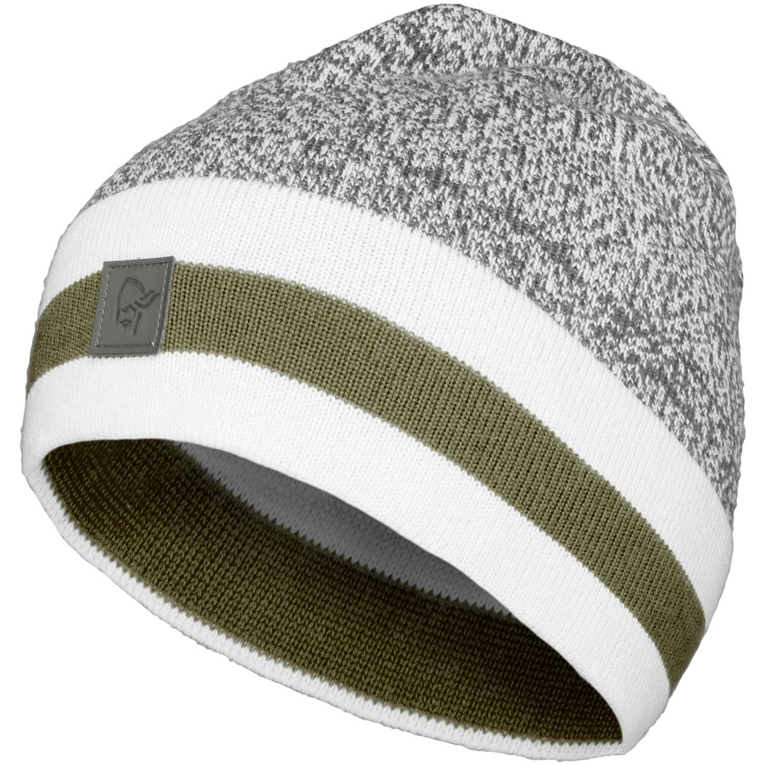 /29 marl knit stripe wool Beanie