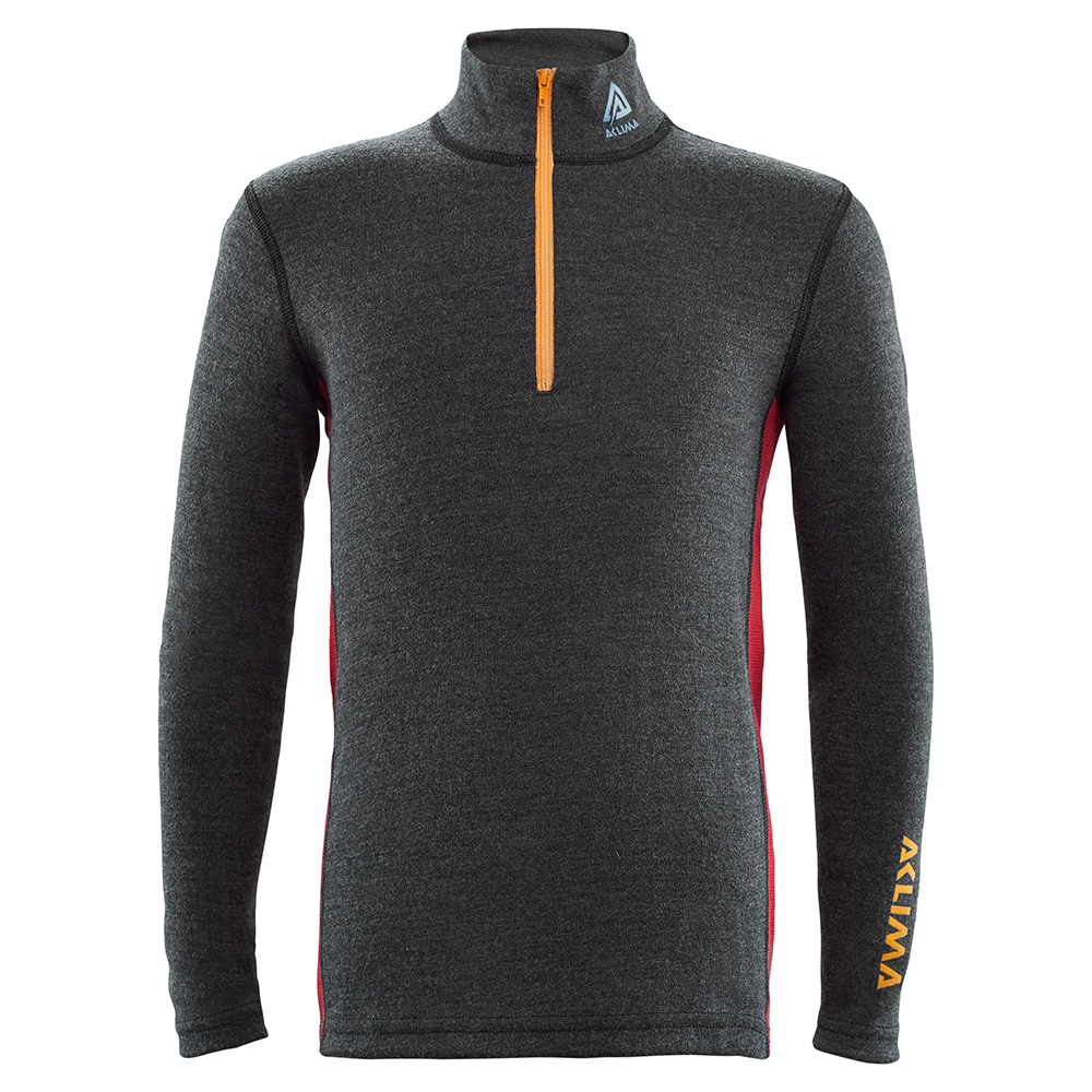 WARMWOOL MOCK NECK W/ZIP [J]