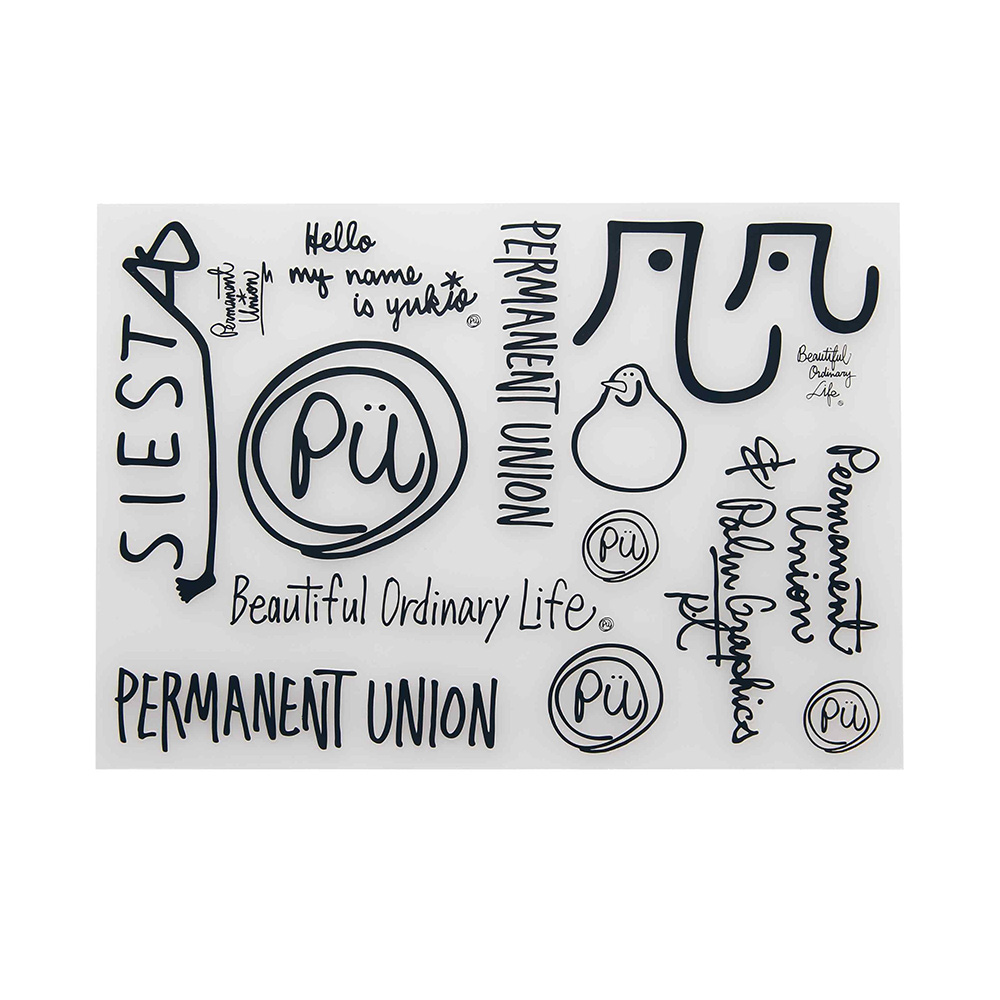 Permanent Union & Palm Graphics design Sticker