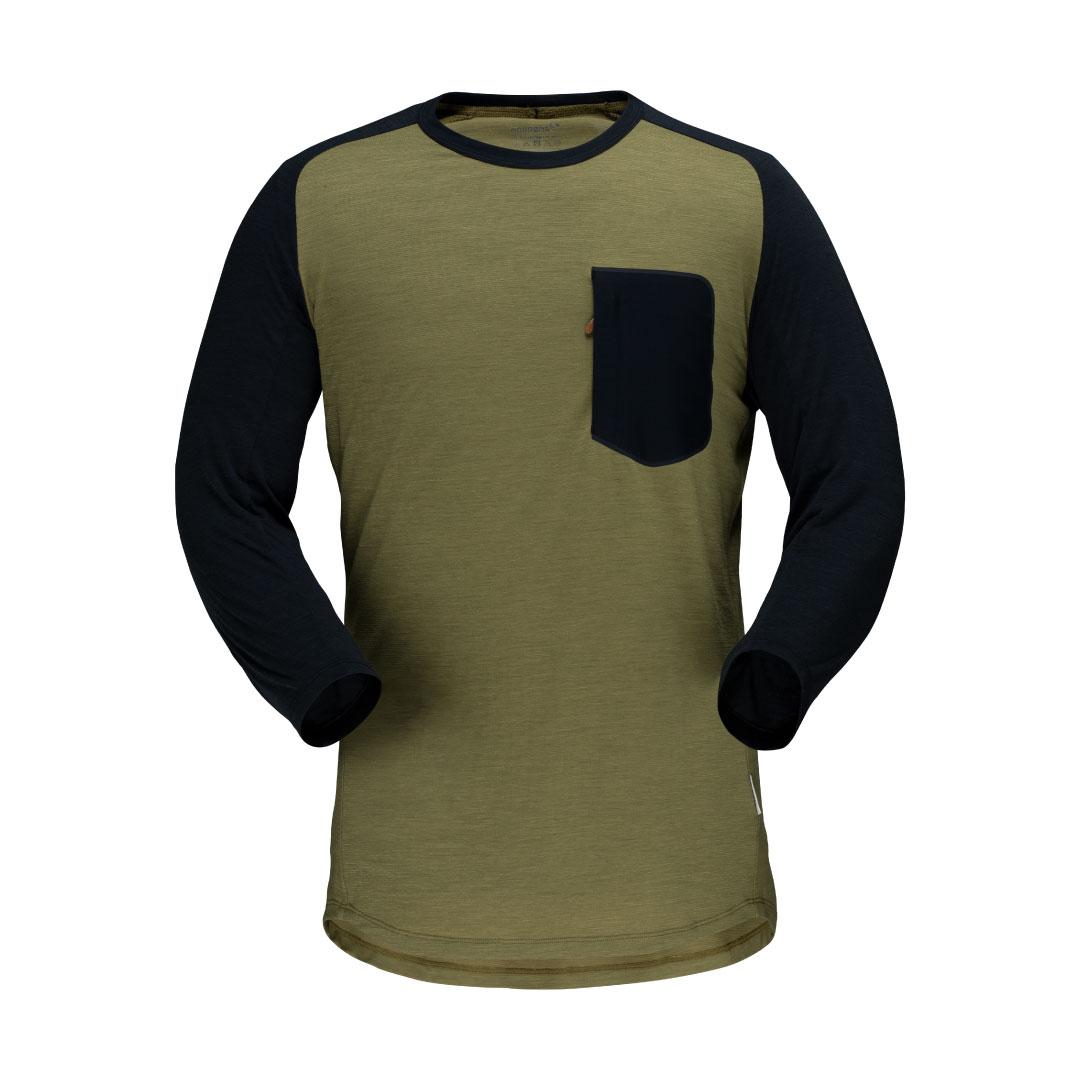 skibotn wool 3/4 T-shirt (M)