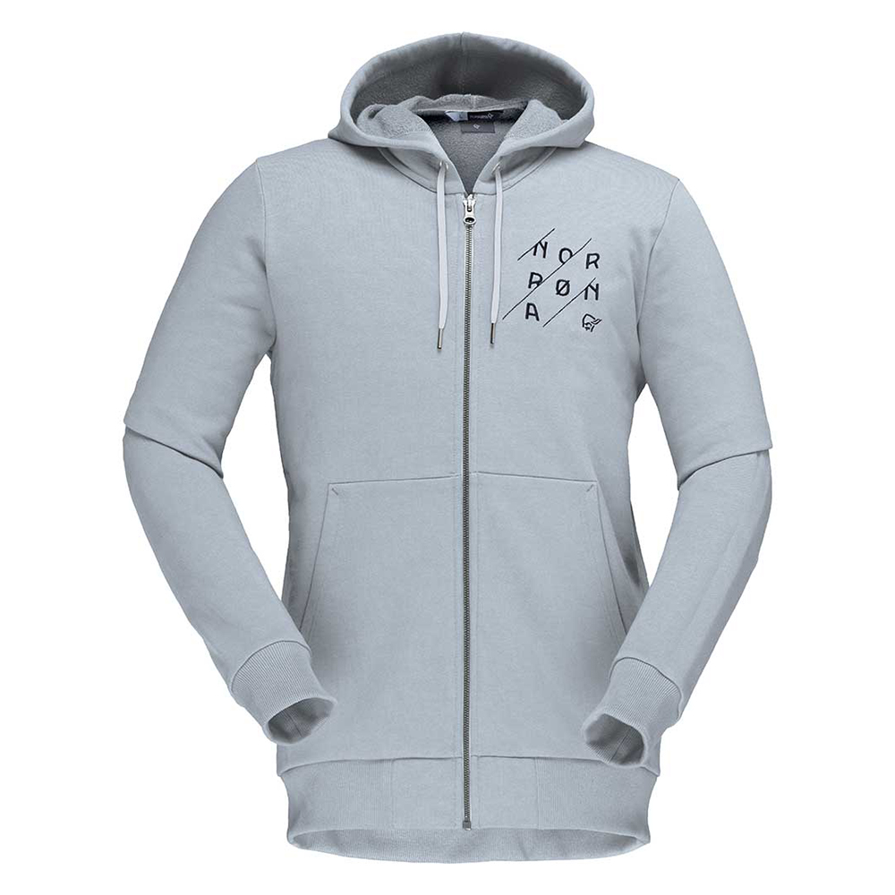 /29 cotton slant logo Zip Hood (M)