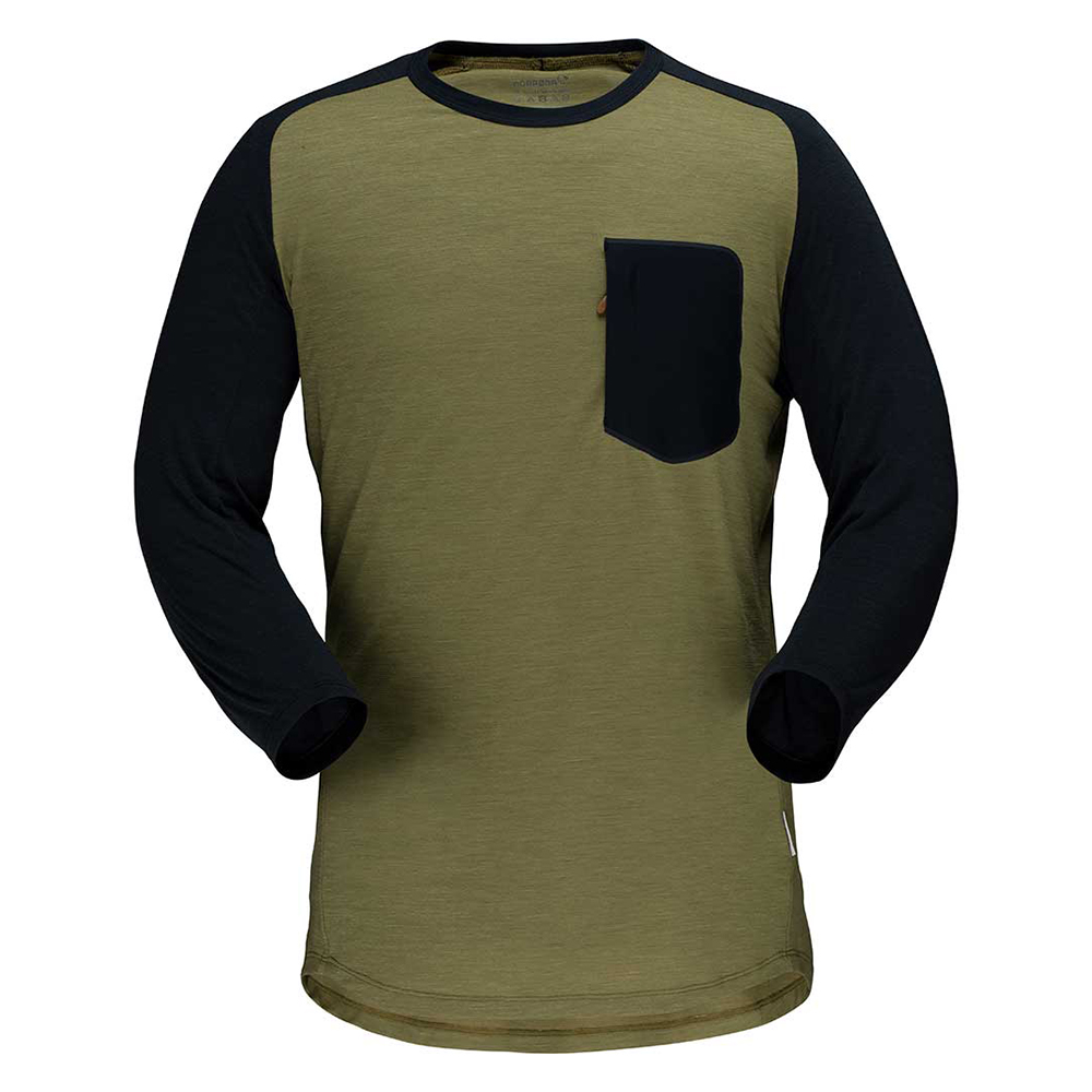 skibotn wool 3/4 T-shirt (M)